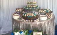 Evolution Catering Batman Wedding Cake and Cupcakes
